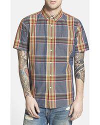 Obey 'Gordon' Trim Fit Plaid Short Sleeve Shirt - Lyst