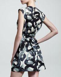 Kelly Wearstler Metamorph Swirl Silk Dress - Lyst