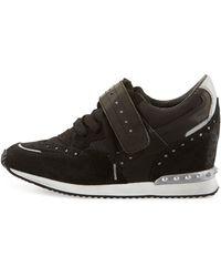 Ash Detox Ter Spiked Suede Wedge Sneaker - Lyst