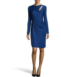 Halston Heritage Slitfront Twistwaist Jersey Dress - Lyst
