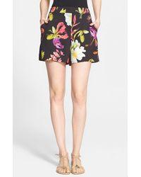 ESCADA Floral Print Shorts - Lyst