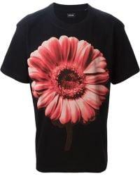 Diesel Flower Print T-Shirt - Lyst
