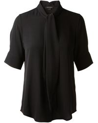 Marc Jacobs Black Silk Shirt - Lyst
