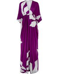 Issa Printed Goddess Kaftan Gown - Lyst