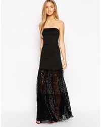 Boulee Stella Lace Strapless Maxi Dress - Lyst