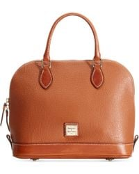 Dooney & Bourke Pebble Zip Top Satchel - Lyst