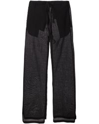 Ann Demeulemeester Blanche Wide Leg Tailored Trousers - Lyst