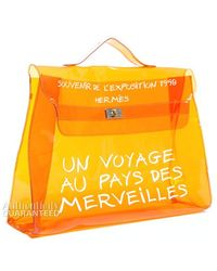 Hermès Pre-Owned Orange Vinyl Souvenir D' Exposition Kelly Bag - Lyst