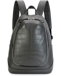 Alexander McQueen - Croc-embossed Leather Backpack - Lyst