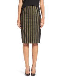 Halogen - Textured Pencil Skirt - Lyst