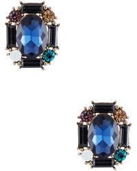 Cara Rhinestone Cluster Stud Earrings - Lyst