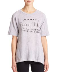 Wildfox Charm School Tee gray - Lyst