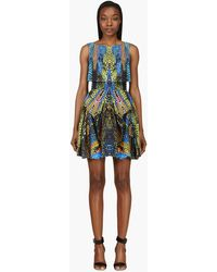 McQ by Alexander McQueen Blue Kaleidoscope Crocodile Dress - Lyst