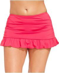 Kenneth Cole Reaction Plus Size Ruffled Swim Skirt - Lyst