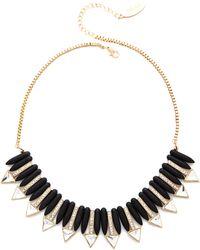 Adia Kibur - Triangle Short Necklace - Black/Gold - Lyst