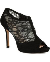 Kate Spade Florentina Suede & Lace Ankle Boots - Lyst