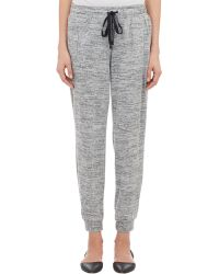 Barneys New York Mélange Cropped Sweatpants gray - Lyst
