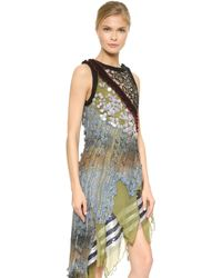 Rodarte Embellished Lace & Chiffon Dress - Multi multicolor - Lyst