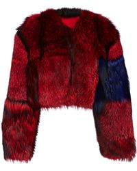 Roksanda Cropped Silver Fox Fur Jacket - Lyst