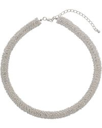 Topshop Beaded Tube Collar Necklace - Lyst