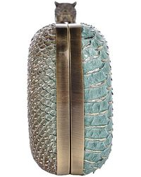 House of Harlow 1960 - Adele Snake-Embossed Clutch - Lyst
