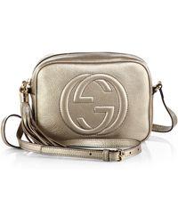 Gucci Soho Metallic Leather Disco Bag - Lyst