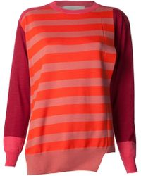 Stella McCartney Patchwork Stripe Sweater - Lyst