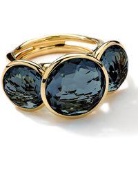 Ippolita - 18k Gold Lollipop 3stone Ring in London Blue Topaz - Lyst