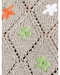 Michaela Buerger - Miss Daisies Crochet Cropped Sweatshirt - Lyst