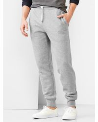 Gap Lived-in Fleece Pants - Lyst
