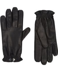 Barneys New York B Leather Gloves - Lyst