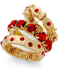 Style & Co. - Gold-tone Red Stone Ring Set - Lyst