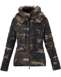 Moncler Bonlieu Camo-print Quilted Down Jacket - Lyst