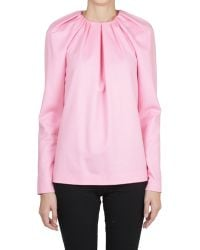 Vionnet Wool and Angora Blend Blouse - Lyst