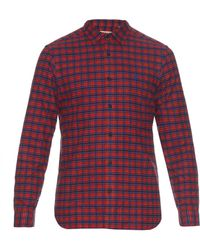 Burberry Brit - Checked Cotton-flannel Shirt - Lyst