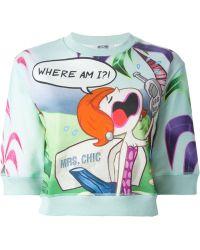Moschino Cheap & Chic Mrs. Chic Print Sweater - Lyst