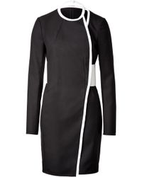 Paco Rabanne Wool Twotone Dress - Lyst
