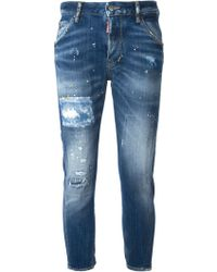 DSquared2 Cropped Jeans - Lyst