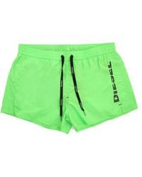 Diesel Coral Red Short Neon Green Swim Shorts - Lyst