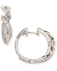 Paul Morelli - Simple 18K White Gold & Diamond Nouveau Hoop Earrings - Lyst