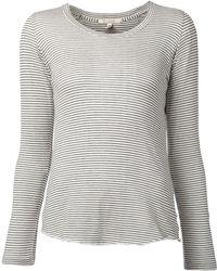 Nili Lotan Long Sleeve Striped T-Shirt - Lyst