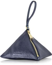 Jil Sander Dark Purple Metallic 3angle Clutch - Lyst