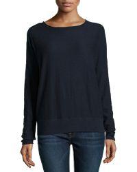 Vince Long-sleeve Slub-knit Sweater - Lyst