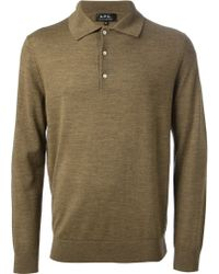 A.P.C. Polo Collar Sweater - Lyst