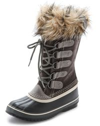 Sorel Joan Of Arctic Boots Black - Lyst
