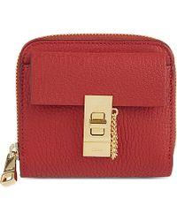 where to buy chloe handbags - Chlo�� Drew Long Leather Zip Wallet in Gray (motty grey) | Lyst