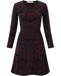 Mary Katrantzou Tb Full Skirt Three Quarter Sleeve Dress - Lyst