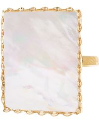 Lana Jewelry Costa Blanca Mother-Of-Pearl Ring - Lyst