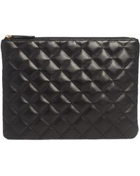 Asos Quilted Clutch Bag with Zip Top - Lyst