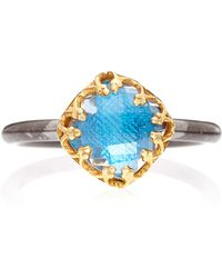 Larkspur & Hawk - Small Blue Jane Cushion Ring - Lyst